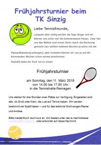 Frühjahrsturnier @ Tennis Center Remagen