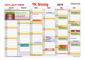 Termine 2019 TK Sinzig